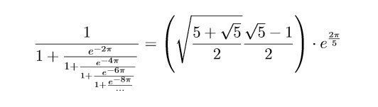 eine von Ramanujans angeblich nur » entdeckter « Formeln